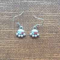 Silver Plated Paw Print, Paws Dog Lovers, Cat Lovers, Cats, Dogs Earrings