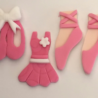 12 x edible icing Ballerina ballet dancer theme cupcake toppers cake decorations