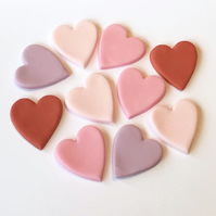 16 x edible icing large heart cupcake toppers cake decorations