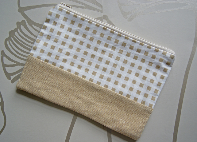 SALE - Squares and Gold Pouch
