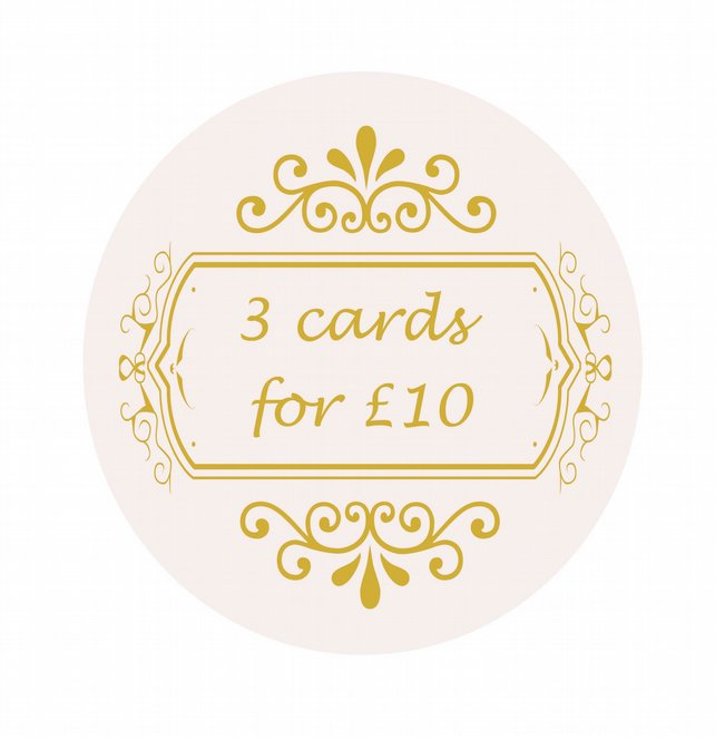 Any 3 Cards, Choose 3 Cards, Special Deal, Card Offer, Greeting Cards.