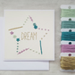 Dream Hand Embroidered Card, New Home Keepsake Card, New Job Card