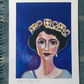 Print of original painting of HM Queen Elizabeth II to celebrate her 90th