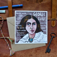 Postcard and envelope - art print of illustration of woman from history