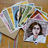 SET A - set of 10 postcards- 10 different designs of women from history