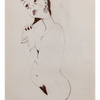 Giclee fine art print of original life drawing illustration - 'Dreamy'