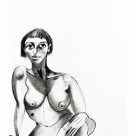 Giclee fine art print of original life drawing illustration - 'Bright'