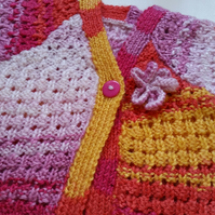 Baby Girl Cardigan - Spring - Summer - Rainbow - Newborn