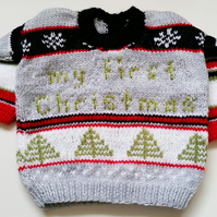 CUSTOM ORDERS ONLY Baby's First Christmas Sweater