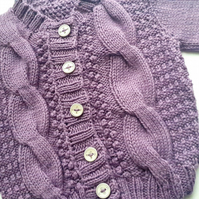 Cable Knit Cardigan 0 - 6 months
