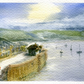 St Mawes, Cornwall - original watercolour painting by Jon Warren, mounted.