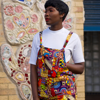 African Dungarees, festival Dungarees, Patchwork Dungarees