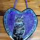 Hand painted slate heart