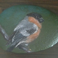 Hand painted stone paperweight