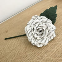 Book Page Boutonniere Buttonhole Grooms Flower Best Man Wedding Guests Flowers