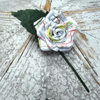 Map Paper Buttonhole Boutonniere Grooms Flower Best Mant Wedding Guest Flower