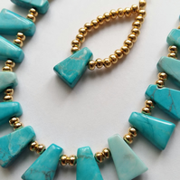 Aqua Colour Necklace & Earrings Set