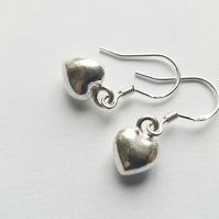 Sterling Silver Mini Heart Earrings