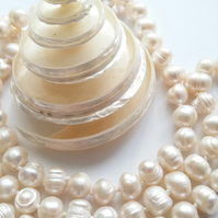Long Freshwater Baroque Pearl Necklace