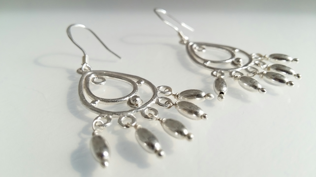 Silver Plated Chandelier Earrings