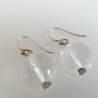 Sterling Silver Clear Quartz Earrings
