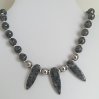 Larvikite & Haematite Necklace