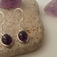 Sterling Silver & Amethyst Earrings