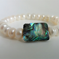 Pearl and Abalone Bracelet