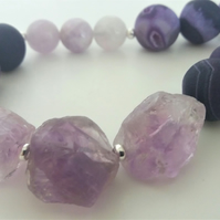 Statement Amethyst Necklace
