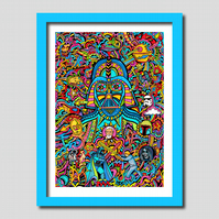 Star Wars Darth Vader Illustration A3 Art Print