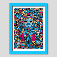 Star Wars Stormtrooper Illustration A3 Art Print