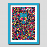 Star Wars Greedo Illustration A3 Art Print
