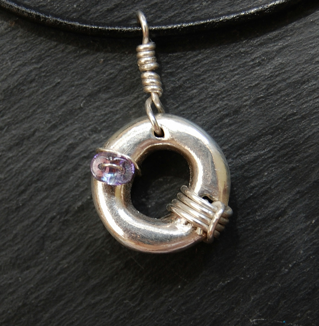 "Fine & Sterling Silver ""Ring"" Pendant"