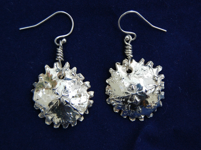 "Fine silver ""Limpet"" earrings"