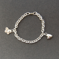 Childs Sterling silver charm bracelet