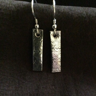 Silver Bar earrings 3