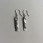 "Sterling Silver ""Ingot"" earrings 6"