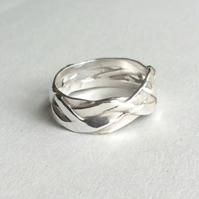 Sterling silver Plait ring