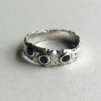 Sterling silver and Sapphire ring