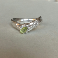 "Silver & Peridot ""Laine"" ring"