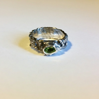 "Silver & Peridot ""Helle"" ring"