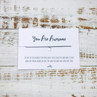 """You Are Awesome"" Wish Bracelet"