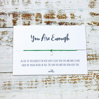 """You Are Enough"" Wish Bracelet"