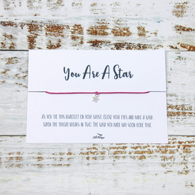 """You Are A Star"" Wish Bracelet"