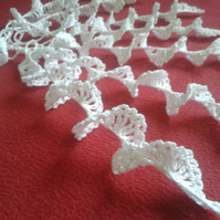 Handmade crochet set of 10 icicles, Christmas Tree Ornaments