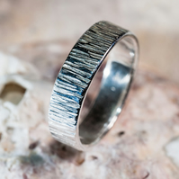 eco-silver handmade textured ring