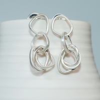 ecosilver hoop tumble earrings