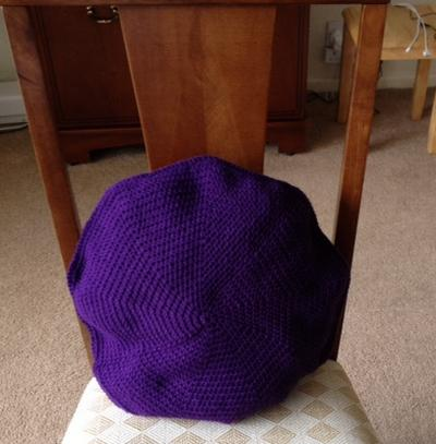Round crochet 16 inch Cushion Cover