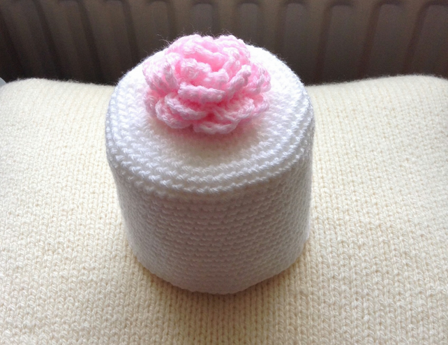 Hand crocheted Toilet roll cover