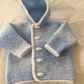 Hand knitted hoody cardigan jacket - new baby newborn size